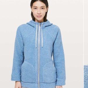 Lululemon So Sherpa Wool Blend Hoodie Jacket